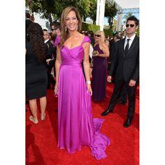 Allison Janney Purple Evening Dress 2013 Primetime Emmy Awards Red Carpet