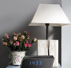 Table Lamp, Clock, Lighting, Home Decor, Watch, Table Lamps, Decoration Home, Room Decor, Clocks