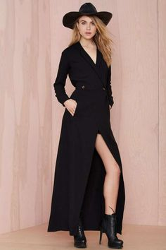 Stone Cold Fox Boston Wrap Dress - Black