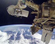 video cameras mounted on the International Space Station.