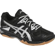 Check out the Asics Women's Gel-Tactic Shoes! Silver Shoes, Black Silver, Black Shoes, Women Volleyball, Volleyball Shoes, Asics Fashion, Asics Shoes, Asics Women, Kid Shoes