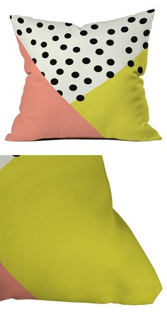The Spotty Record Throw Pillow speaks to us, reviving waves of nostalgia in the form of polka dots. Fun art deco colors and a splashy display of black circles light up a room in the best of ways, bring...  Find the Spotty Record Throw Pillow, as seen in the #Mid-Century in a Pastel Palette Collection at http://dotandbo.com/collections/mid-century-in-a-pastel-palette?utm_source=pinterest&utm_medium=organic&db_sku=118447