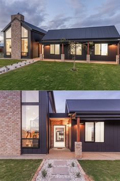 Manufacturer of fibre cement building products including James Hardie and Scyon external cladding, interior lining, flooring and eaves products for the Australian residential and commercial market. Modern Barn House, Small Modern Houses, Modern Exterior, Exterior Design, Shed Homes, Dream House Exterior, Industrial House, Facade House, House Front