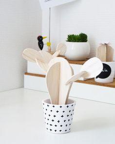 DIY Kaktus aus Holz