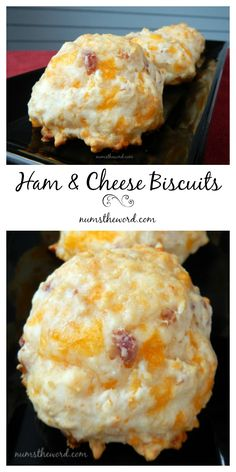 Do you have leftover ham you aren't sure what to do with? Try these Ham & Cheese Biscuits. Only 4 ingredients and ready in 20 minutes! Serve hot or cold!