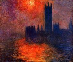 Houses of Parliament, Sunset Claude Monet - 1900-1901
