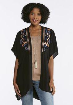 caedba728 Cato Fashions Melon Berry Embroidered Kimono #CatoFashions Fashion Outfits,  Womens Fashion, Kimono Top