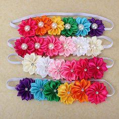 Lindo Bebê Menina Infantil Criança Flor Colorida Headband Arco Cabelo Banda Headwear