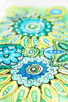I love these doodles, and the color palette.  I must try watercolor in a sketch book.