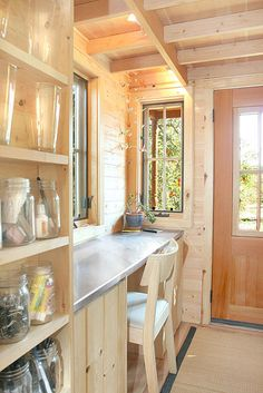 "Inside the ""Epu"" tiny house built by Jay Shafer for Tumbleweed Houses."