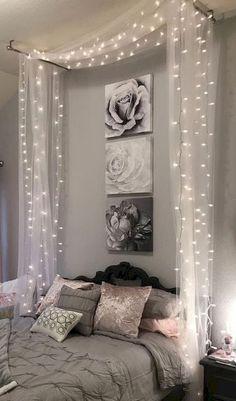 49 Relaxing Bedroom Lighting Decor Ideas - Diy Home Decor Bedroom Decor Lights, Home Decor Bedroom, Living Room Decor, Diy Home Decor, Bedroom Ideas, Bedroom Designs, Bedroom Lighting, Bedroom Ceiling, Bedroom Lamps