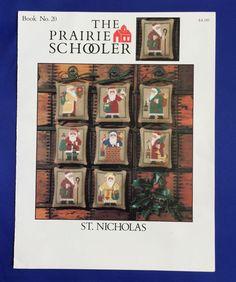 The Prairie Schooler St Nicholas Cross Stitch Patterns Chart #20 Santa Claus VTG #PrairieSchooler #StNicholas