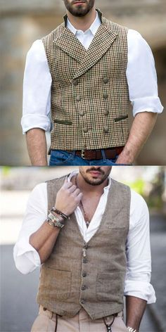 vest for men casual fashion Best Dressed Man, Sharp Dressed Man, Stylish Men, Men Casual, Look Man, Gents Fashion, Herren Outfit, Gentleman Style, Trendy Style