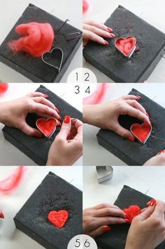 How To: Needle Felt Heart Garland How To: Needle felt Heart Garla. How To: Needle Felt Heart Garland How To: Needle felt Heart Garland using cookie cut Embroidery For Beginners, Sewing Projects For Beginners, Embroidery Ideas, Felted Wool Crafts, Needle Felting Tutorials, Heart Garland, Diy Garland, Needle Felted Animals, Felt Hearts
