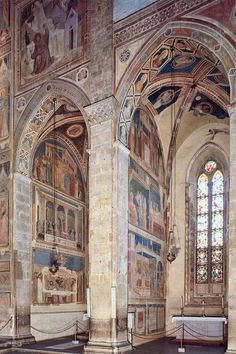 Santa Croce, Florence--Giotto Bardi Peruzzi Chapels