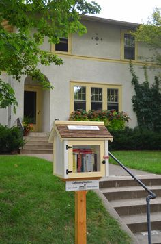 Little free library in Minneapolis, Minnesota ...These little libraries are all over my city of Minneapolis!
