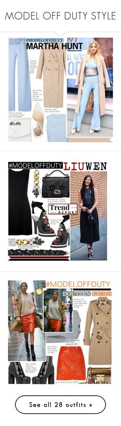 """MODEL OFF DUTY STYLE"" by nindi-wijaya ❤ liked on Polyvore featuring Whistles, Christopher Kane, Jimmy Choo, Proenza Schouler, Fendi, Versace, Marc Jacobs, Polo Ralph Lauren, Burberry and Gucci"