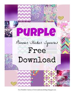 Free Printable Purple Planner Squares Andrea Nicole Blogs