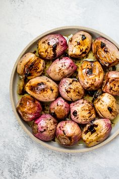 These whole roasted shallots make a tasty and beautiful addition to your dinner table! Balsamic vinegar and butter add an extra special touch to this easy vegetable side dish.