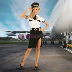 Airline Pilot Pin Up Costume