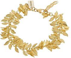 K. Amato Golden Leaves Bracelet on shopstyle.com