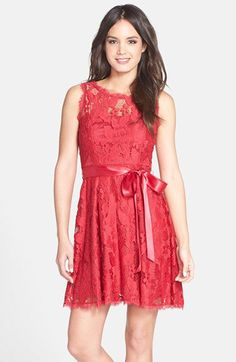 Adrianna Papell Lace Fit & Flare Dress | Nordstrom