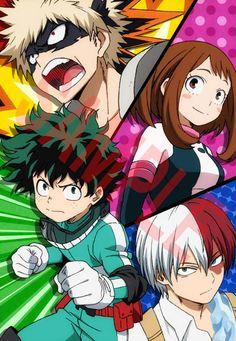 Boku no Hero Academia    Midoriya,Bakugo,Uraraka,Todoroki
