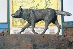 Red Dog statue Dampier Western Australia - A movie with the same name was made about this amazing animal who travelled far and had lots of friends who missed him so much they had a statue erected to remember his adventures. Good movie and a real insight into how Australia works.