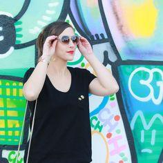 Huguette Paillettes - Couture - T-shirt funky. Jersey, couture, gratuit, tuto, pas à pas, explication, français