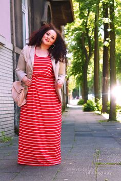 In Fat Style - PlusSize Modeblog: Striped Red