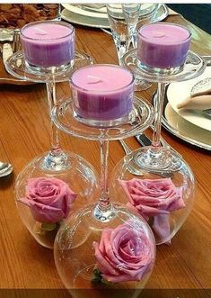 Tea party bridal shower decorations center pieces flower centerpieces 21 new Ideas Romantic Candles, Diy Candles, Green Candles, House Candles, Romantic Room, Romantic Ideas, Floating Candles, Table Centerpieces, Centerpiece Ideas