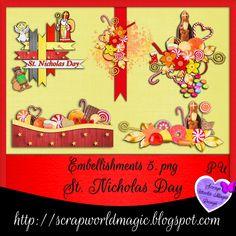 Digital Scrapbooking Freebies, St Nicholas Day, Kit, Embellishments, Playing Cards, Design, Ornaments, Decorations