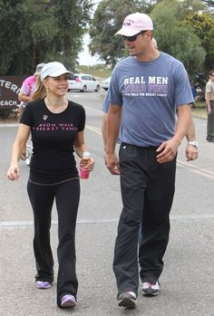 Fergie and Josh Duhamel walk for charity