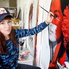 Lula Goce Street Artists, Calamari, Artist At Work