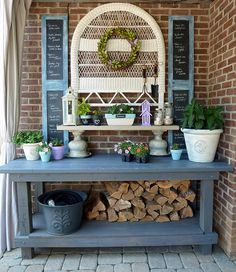 36 best Potting bench for my farmhouse sink images on Pinterest ...
