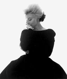 Marilyn Monroe, Vogue, Black Dress. 1962 by Bert Stern