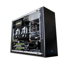 The MX3 is capable of dual extreme graphics in SLI. It's a compact powerhouse.