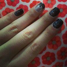 Ombré Nails com Glitter
