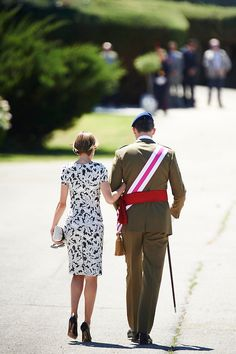 King Felipe VI of Spain and Queen Letizia of Spain attend the new royal guards flag ceremony on May 22 2015 in Madrid Spain