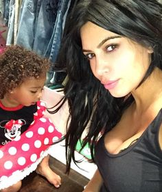 Naww. Kim Kardashian lets us see what North West's natural curls look like!