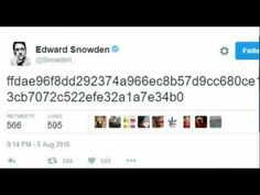 Dead Man's Switch?: Edward Snowden Tweets Cryptic Code, Torrent Sites Taken Down - YouTube