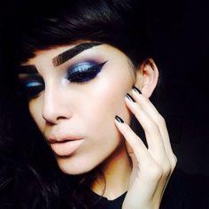 #makeup #lipstick #eyeshadow #nude #popular #newest #2014 #blue
