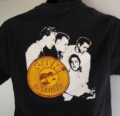 Legendary Sun Studios T-Shirt Small Elvis Johnny Cash Jerry Lee Lewis Vtg Black