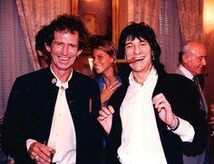 Happy! Keith Richards & Ronnie Wood