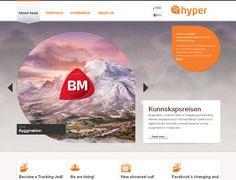 Web + Design    http://www.hyper.no/