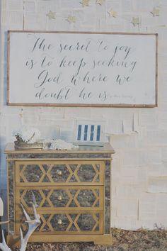 Secret to Joy Sign. Love this quote