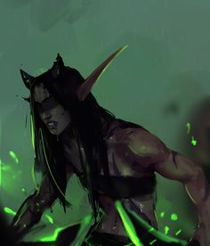 Illidari Night Elf Kaldorei Demon Hunter Daily World of Warcraft Art Board ^^ // Blizzard // wow // Hearthstone // Geek Fantasy Character Design, Character Concept, Character Inspiration, Character Art, Warcraft Characters, Dnd Characters, Fantasy Characters, Fantasy Story, Fantasy Art