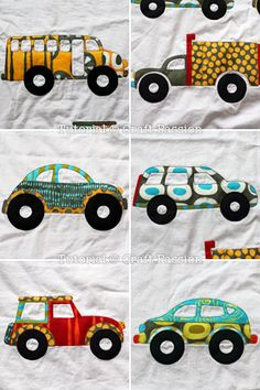 Free pattern and tutorial to sew a vehicle and traffic theme aka road runner quilt blanket specially designed for boy, with printable applique templates. – Page 2 of 2