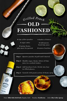 Old Fashioned Recipe featuring the Miller type family from FontBureau, art by Blue Collar Agency #fontspiration #design #typography #fonts