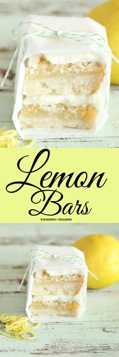 Lemon Bars by Noshing With The Nolands is an easy three layer dessert that is a scrumptious combination of sweet and tart!